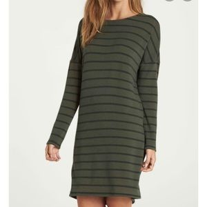 Billabong 'Simply Put' Striped Dress in Olive - S